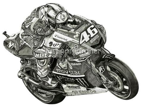 Kaos3d Print Vale 46 valentino motorcycle drawing print vr46 motogp rysuneczki vr46