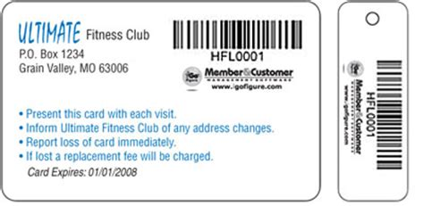 Gym Membership Gift Card - barcoded membership cards barcodes on cards