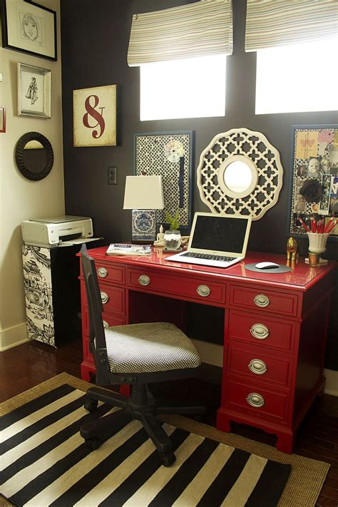 red corner computer desk furniture dark black with red corner computer desks