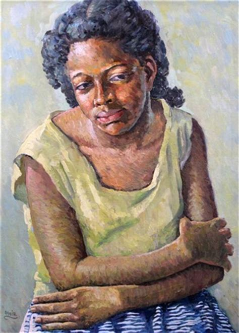 biography of jamaican artist albert huie portrait of a jamaican woman pinkie by albert huie on artnet