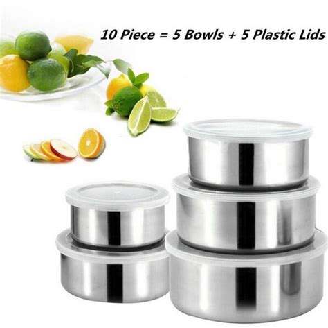 Protect Fresh Box Mangkuk Stainless 5 Pcs 5pcs lot stainless steel mixing bowls box ingredients standby bowl food container diy cake bread