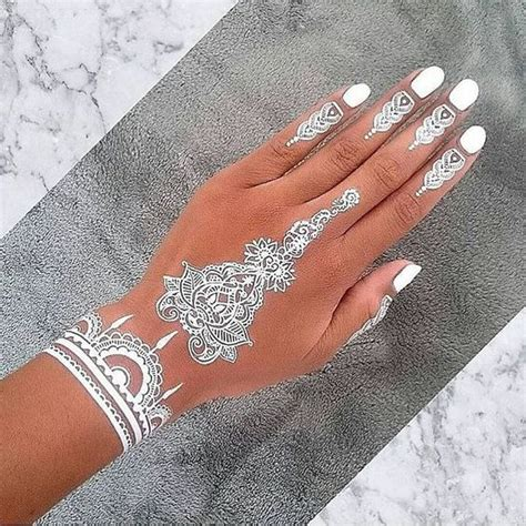 tattoos that look like henna 30 stunning white henna inspired tattoos that look like