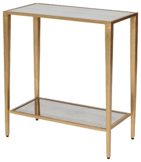 contemporary bedroom side tables tiered side table side worlds away worlds away two tier rectangular table side
