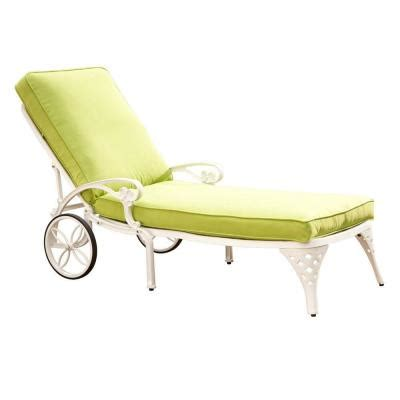 white outdoor chaise lounge home styles biscayne white patio chaise lounge with green