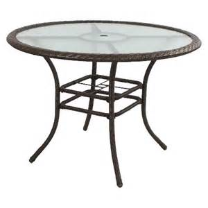 Target Patio Table Hamilton Wicker Patio Dining Table Target