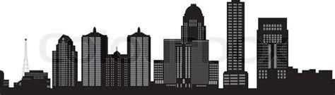 Louisville Ky Skyline Outline by Louisville Skyline Stock Vector Colourbox