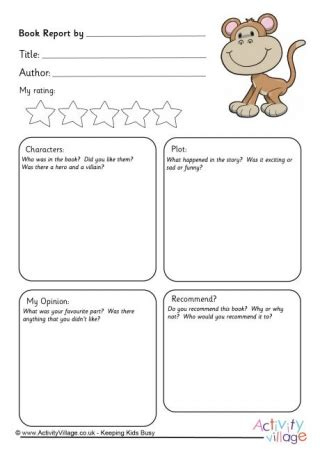 animal book report book reports