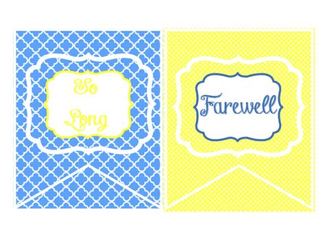 printable goodbye banner printable goodbye banners cake ideas and designs