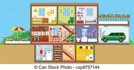 Lighthouse House Plans Eps Vector Of House In A Cut Vector Illustration Color