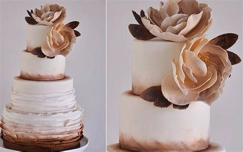Rose Gold Wedding Cakes, Bronze & Copper   Cake Geek Magazine
