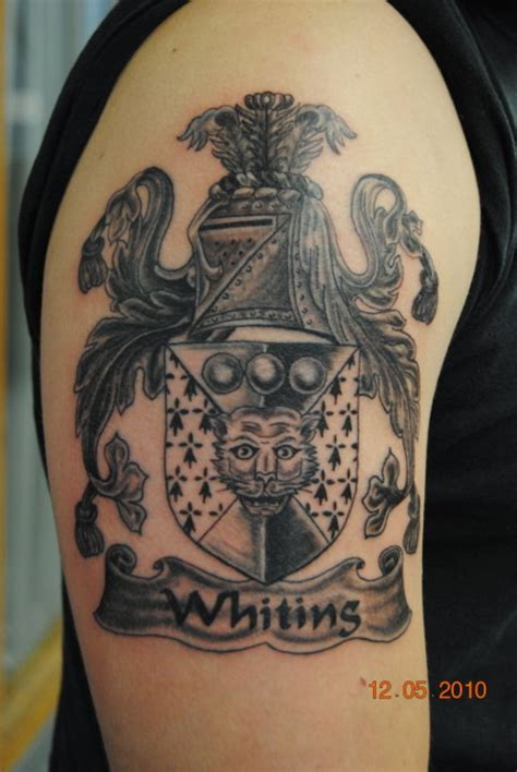 family half sleeve tattoo designs family crest images designs
