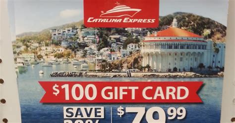Gift Card Catalina - catalina express 100 gift card for 80 costco weekender
