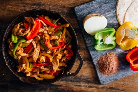 spicy chicken fajitas dad   pan