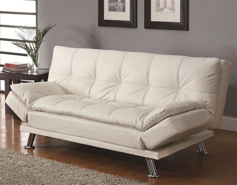 White Sleeper Sofa White Click Futon Sofa Bed Furniture Outlet In Chicago