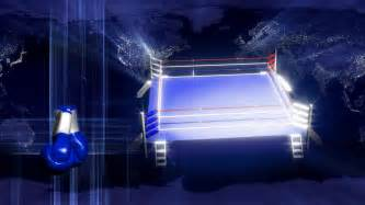 boxing background spinning boxing ring gloves globe background motion