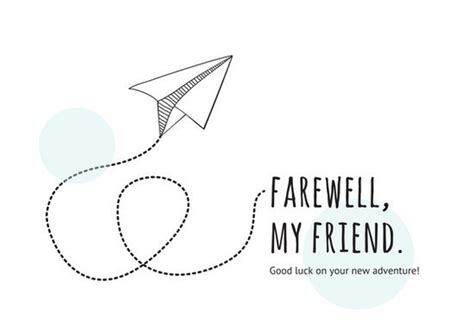 get well soon card template ks1 white paper plane farewell card templates by canva