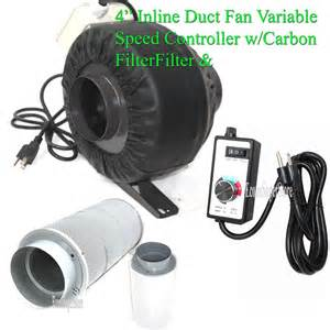 variable speed fan 4 quot variable speed control inline hydroponic duct fan