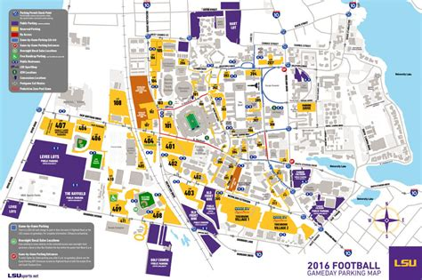 Lsu Football Parking Map | 2016 lsu football parking map lsusports net the