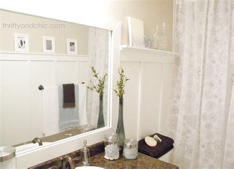 bathroom mirror makeover thrifty and chic diy projects and home decor