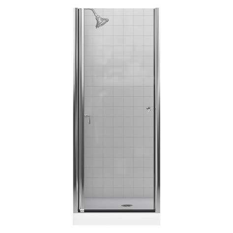 Home Depot Doors With Glass Kohler Levity 57 In X 59 3 4 In Semi Frameless Sliding Tub Door Door In Silver With