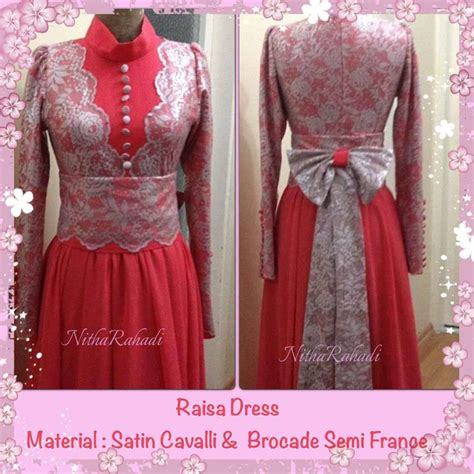 Longdress Motif Gamis Anak baju pesta dan sarimbit kebaya raisa dress made by order
