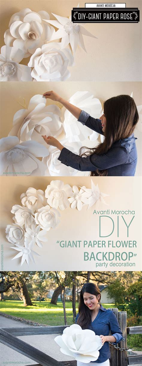 by avantimorochadiys etsycom diy giant paper flower backdrop mural de flores gigante