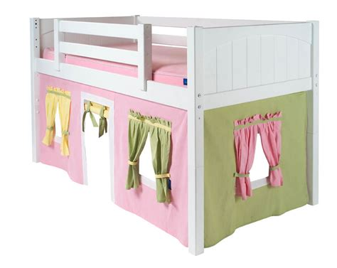 loft bed playhouse curtains maxtrix kids twin low loft bed with tent
