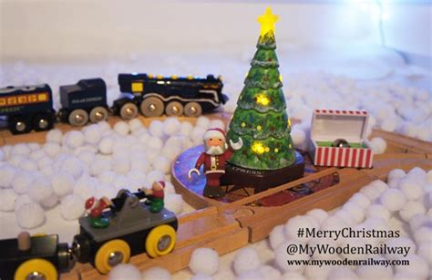 wishing   merry brio christmas  wooden railway