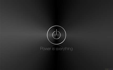 black wallpaper with the power wallpaper power is everything by sofartin on deviantart