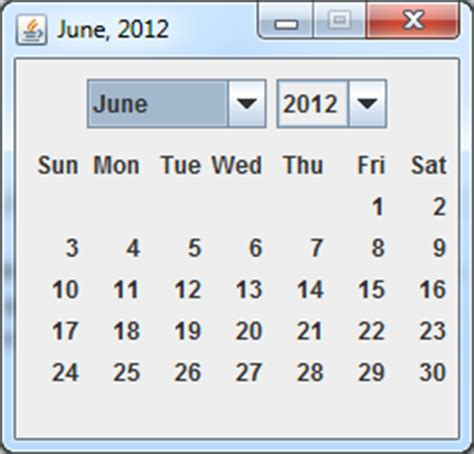 Calendar Java Java Calendar Using Swings