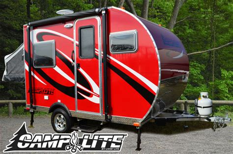 ultra light rv trailers clite 11fk dry wt 1800 lbs small travel trailers