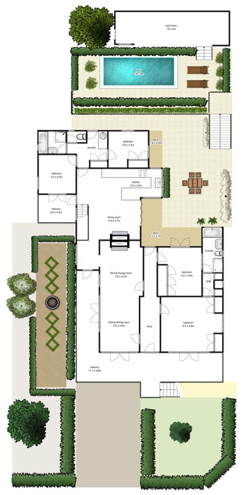 brisbane real estate floorplans highshots