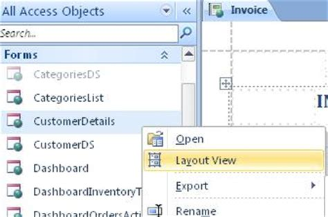 open form in layout view access know when to use layout view in access 2010