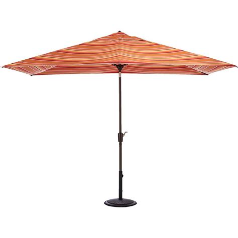 5 Ft Patio Umbrella Home Decorators Collection 6 5 Ft Aluminum Auto Tilt Patio Umbrella In Sunbrella Dolce Mango