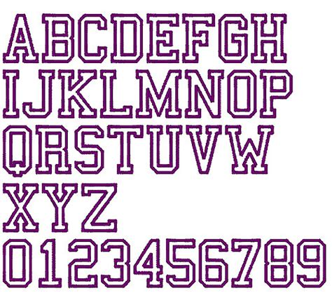 college font design college sports outline by fireside threads home format