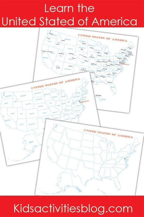 how to memorize the map of the united states learn the united states of america geography ideas and