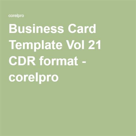 business card templates cdr format 35 best corelpro images on coreldraw a4 and