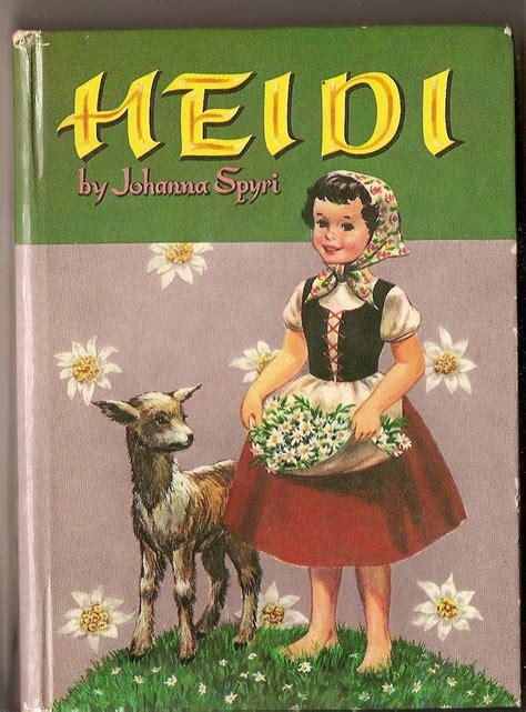 heidi picture book heidi vintage storybook by johanna spyri by vintagebooklover