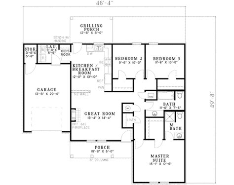 1000 sq ft house plans 3 bedroom 1258 ranch style house plan 3 beds 2 baths 1258 sq ft plan