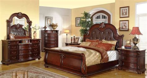 mcferran sleigh leather bed set mcfb9500s usa warehouse furniture