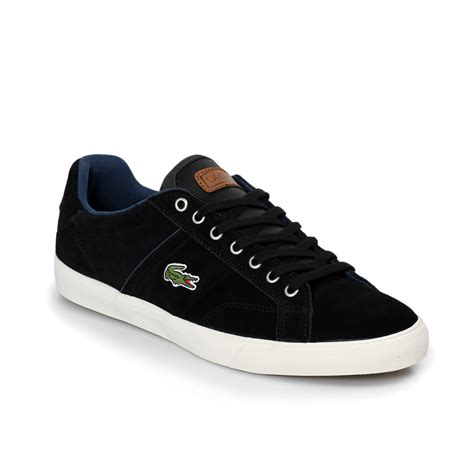 mens black sneakers lacoste romeau black yellow mens trainers sneakers shoes