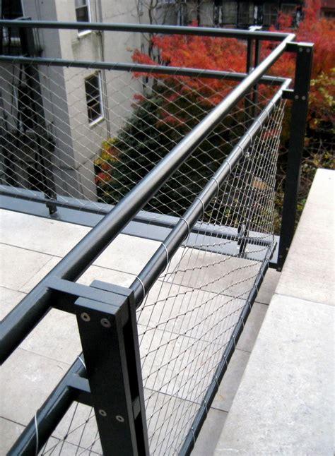 wire banister west village terrace railing caliper studio