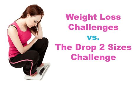 weight loss challenge program weight loss challenges vs the drop 2 sizes challenge