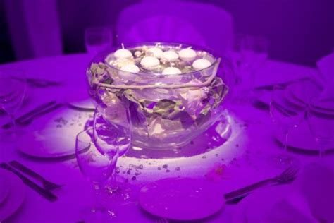 purple floating candles for centerpieces wedding centerpieces without flowers