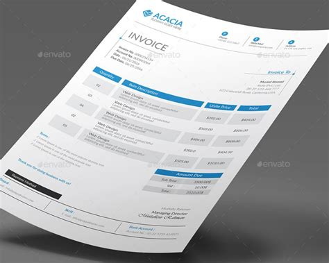 invoice template ai invoice template word psd vector eps and ai format
