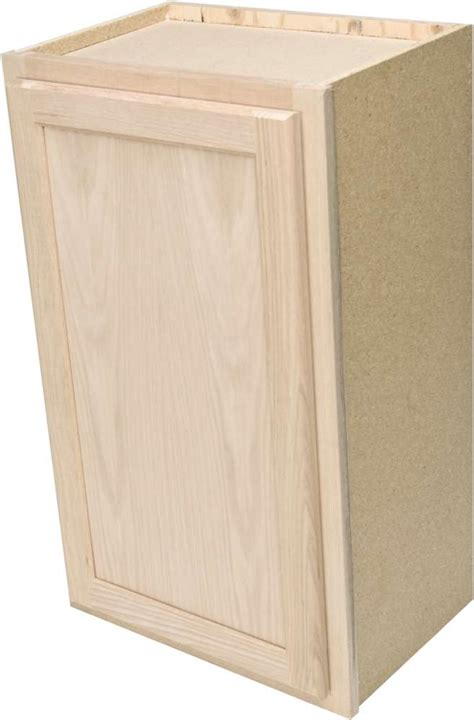 Unfinished Wall Cabinet by Quality One Woodwork W1230 12x30 Unfinished Oak Wall