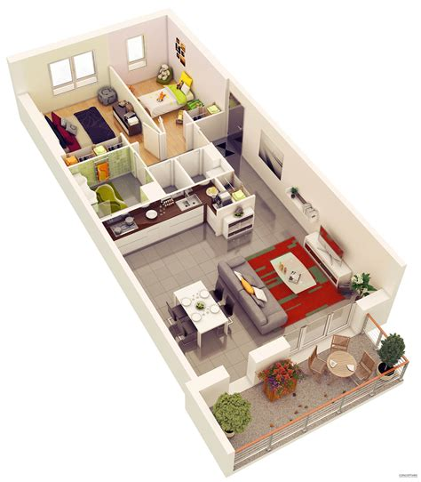 diy 3d home design 20 more 2 bedroom 3d floor plans home decoratings and diy