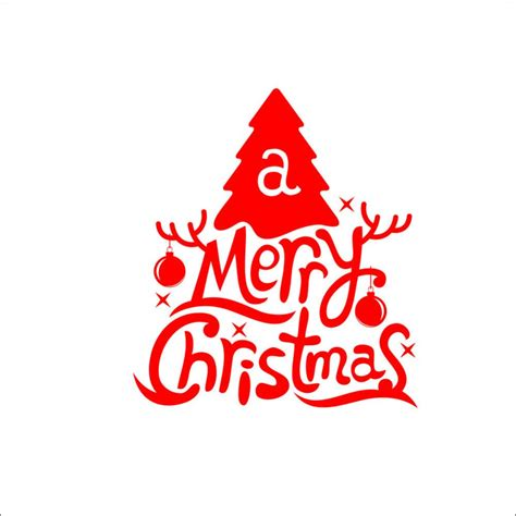 Xmas Wall Stickers hot red art merry christmas wall stickers decals window