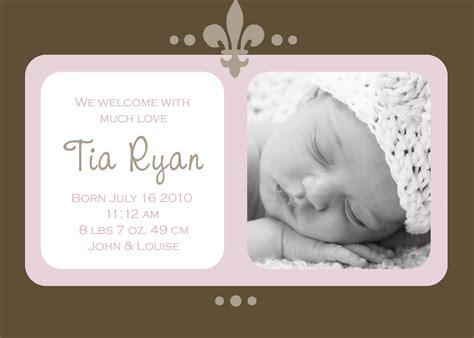 newborn announcement template birth announcements exles birth announcements templates