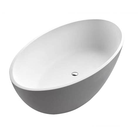 6 ft bathtubs universal tubs choice stone 5 6 ft artificial stone center drain oval bathtub in